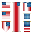 united states banners vector image vector image