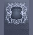 Gray Blue Ornament Cover vector image
