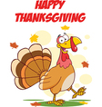 Thanksgiving turkey cartoon vector image