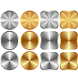 gold silver vector image