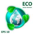 element for design ecology vector image