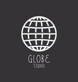 Globe sign business logo vector image