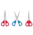 colorful scissors set vector image