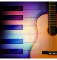 abstract grunge music background with piano and vector image