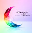 Greeting card of holy muslim month ramadan vector image
