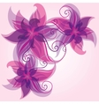 Colorful flower background vector image vector image