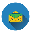 Birthday gift envelop icon with money vector image