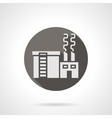 Industrial building factory round flat icon vector image