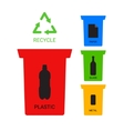 Colored recycle containers ecological vector image