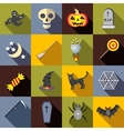 Halloween icons set flat style vector image