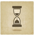hourglass old background vector image