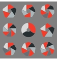 Infographic design on the grey background vector image