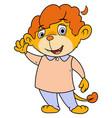 little lion waving hand 2 vector image