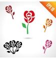Set of rose vector image