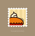 thanksgiving pie stamp harvest vector image