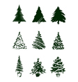 Christmas Tree Sketches vector image