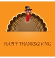 Happy Thanksgiving celebration design with turkey vector image