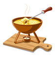 hot cheese fondue vector image