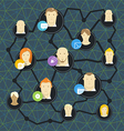 Modern social media network concept vector image vector image