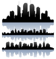 cityscape skyline buidlings silhouette vector image