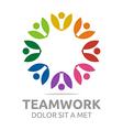 Logo Teamwork People Human Colorful Design vector image