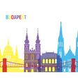 Budapest skyline pop vector image vector image
