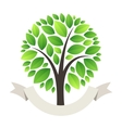 Stylized Green Tree Logo vector image