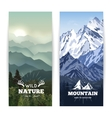 Vertical Mountains Banners vector image