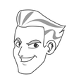 face of young man smiling icon vector image
