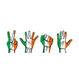 A set of hands with different gestures wrapped in vector image
