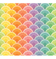 Fan rainbow seamless pattern vector image