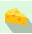 French cheese icon flat style vector image
