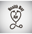Health Day Emblem vector image