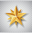isolated gold paper christmas star on transparent vector image