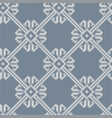 Norwegian knitted pattern in vintage blue color vector image