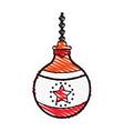 ornamental ball icon image vector image