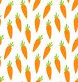Seamless Pattern with Ripe Carrots vector image