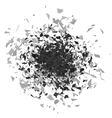 Explosion Cloud of Grey Pieces vector image