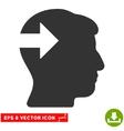 Head Plug-In Arrow Eps Icon vector image