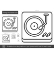 Vintage vinyl player line icon vector image