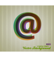 Color Transparency Symbol vector image vector image