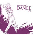dance day street dance vector image