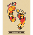 Decorative elements on the feetprint vector image vector image