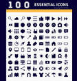 essential webapp icons vector image