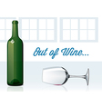 Out of Wine vector image vector image