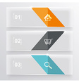 Set of glass bannersCan use to display information vector image vector image