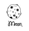 Cartoon moon Hand-drawn vector image