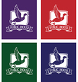 mallard logo set vector image
