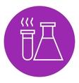 Laboratory equipment line icon vector image vector image