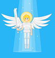 Archangel with sword vector image